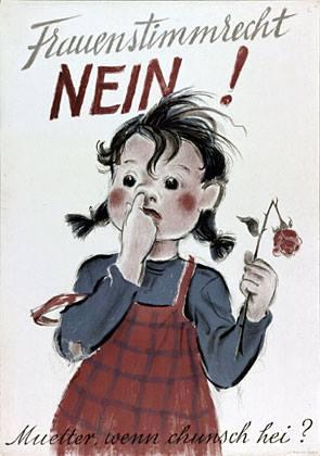 """Solo 47 anni fa in Svizzera veniva accolto il """"diritto di voto alle donne"""".  Ma su cosa si basava l'assurda campagna con..."""